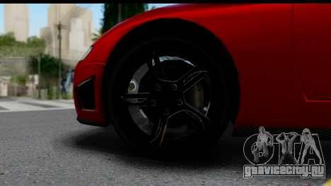 GTA 5 Overflod Entity XF для GTA San Andreas вид сзади