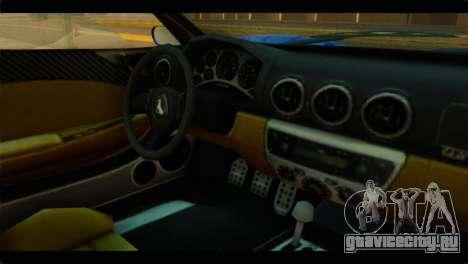 GTA 5 Grotti Turismo для GTA San Andreas вид справа