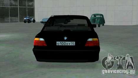 BMW 750i e38 для GTA San Andreas вид справа