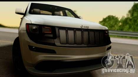 Jeep Grand Cherokee SRT8 2014 для GTA San Andreas вид сзади слева