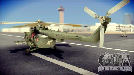 Mil Mi-8 Polish Air Force Afganistan для GTA San Andreas вид слева