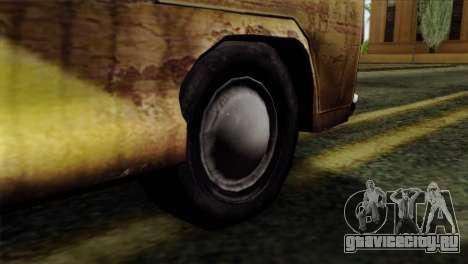 Volkswagen T2 Bob Marley для GTA San Andreas вид сзади слева