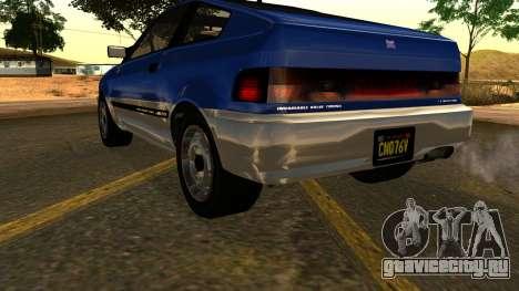 GTA 5 Dinka Blista Compact IVF для GTA San Andreas вид сбоку