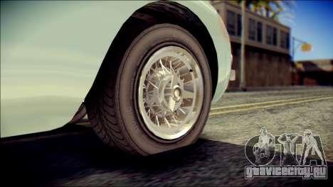 GTA 5 Dewbauchee JB 700 IVF для GTA San Andreas вид сзади слева
