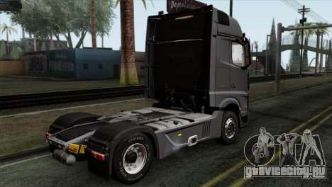 Mercedes-Benz Actros MP4 Euro 6 IVF для GTA San Andreas вид слева