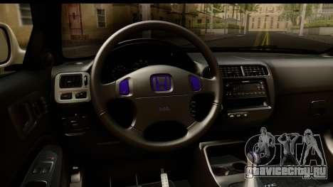 Honda Civic Si Coupe для GTA San Andreas вид изнутри