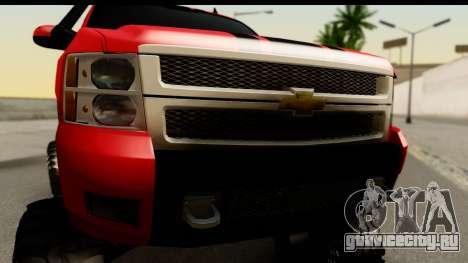 Chevrolet Silverado OffRoad для GTA San Andreas вид сзади слева