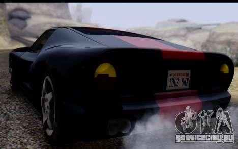 Bullet PFR v1.1 HD для GTA San Andreas вид изнутри