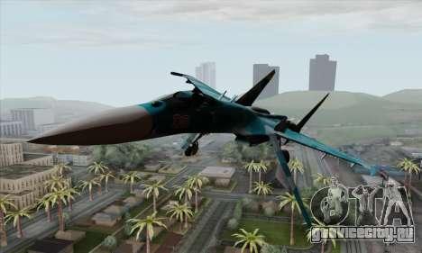 SU-27 Flanker A Warwolf Squadron для GTA San Andreas вид сзади