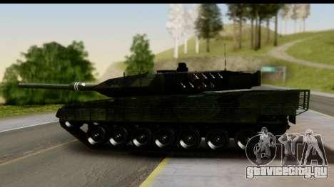 Leopard 2A6 Woodland для GTA San Andreas вид сзади слева