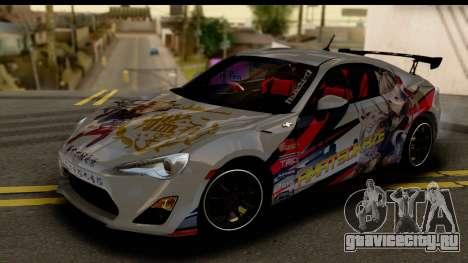 Toyota GT86 Itasha для GTA San Andreas