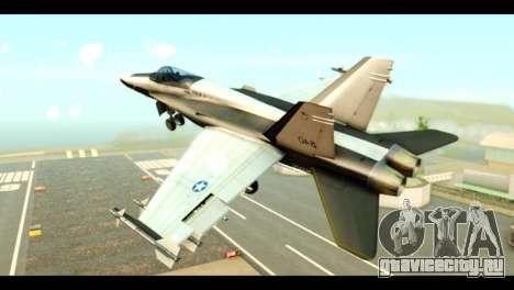McDonnell Douglas FA-18 HARV v2 для GTA San Andreas вид слева