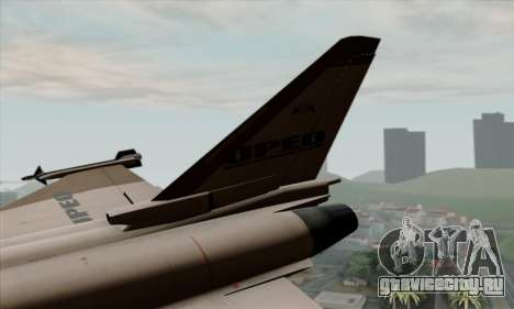 Eurofighter Typhoon 2000 UPEO для GTA San Andreas вид сзади слева
