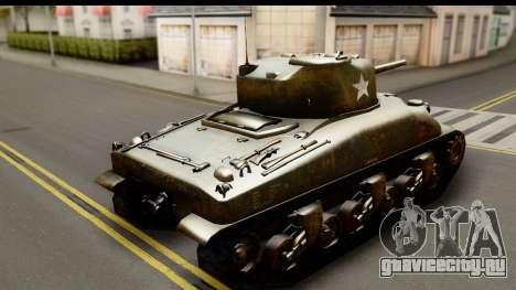 M4A1 Sherman First in Bastogne для GTA San Andreas вид слева