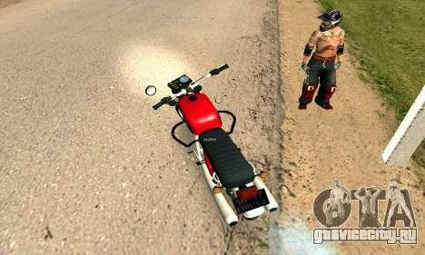 ИЖ Планета-4 для GTA San Andreas вид сзади слева