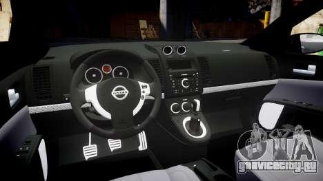 Nissan Altima 3.5 SE для GTA 4 вид изнутри