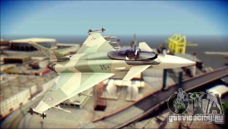 EuroFighter Typhoon 2000 Hungarian Air Force для GTA San Andreas
