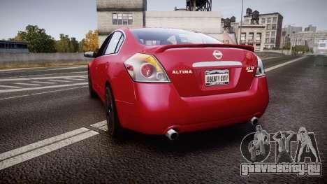 Nissan Altima 3.5 SE для GTA 4 вид сзади слева