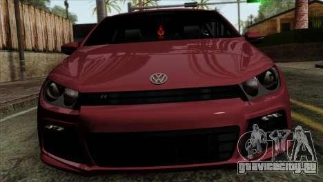 Volkswagen Scirocco R для GTA San Andreas вид сзади