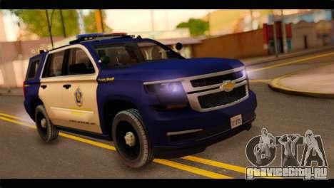 Chevrolet Suburban 2015 BCSD Sheriff для GTA San Andreas