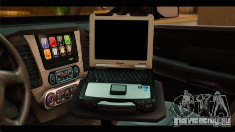 Chevrolet Suburban 2015 BCSD Sheriff для GTA San Andreas вид сзади