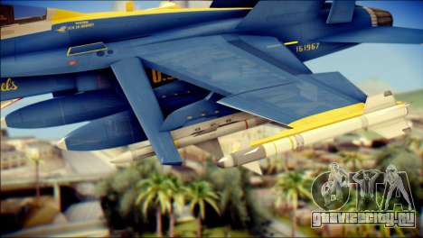 FA-18D Hornet NASA для GTA San Andreas вид справа