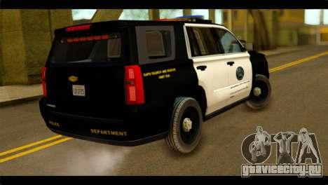 Chevrolet Suburban 2015 SAPD для GTA San Andreas вид слева