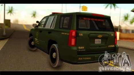 Chevrolet Suburban 2015 SANG для GTA San Andreas вид слева