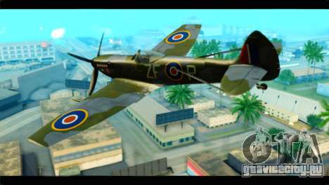 Supermarine Spitfire F MK XVI 318 SQ для GTA San Andreas вид слева