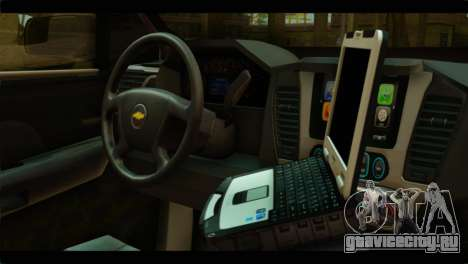 Chevrolet Suburban 2015 SAPD для GTA San Andreas вид справа