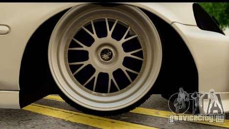 Honda Civic Si Coupe для GTA San Andreas вид сзади