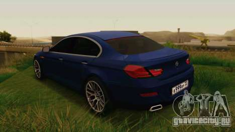 BMW 6 Series Gran Coupe 2014 для GTA San Andreas вид слева
