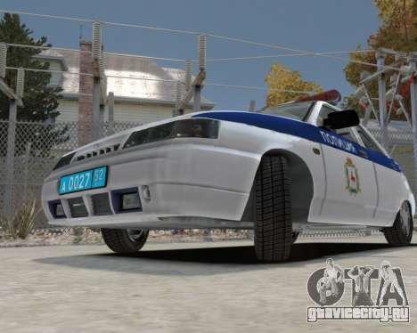 ВАЗ 2112 ДПС для GTA 4 вид сзади