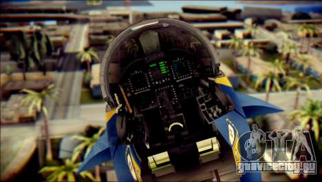 FA-18D Hornet NASA для GTA San Andreas вид сзади
