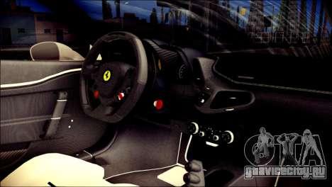 Ferrari 458 Speciale 2015 для GTA San Andreas вид справа