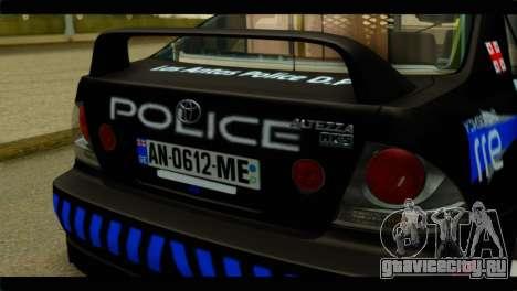 Toyota Altezza Police для GTA San Andreas вид сзади