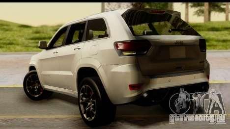 Jeep Grand Cherokee SRT8 2014 для GTA San Andreas вид слева