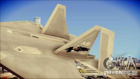 FA-18D Hornet Blue Angels для GTA San Andreas вид сзади слева