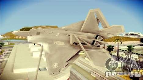 FA-18D Hornet Blue Angels для GTA San Andreas вид слева