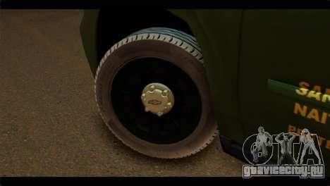 Chevrolet Suburban 2015 SANG для GTA San Andreas вид сзади слева