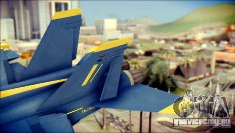 FA-18D Hornet NASA для GTA San Andreas вид сзади слева