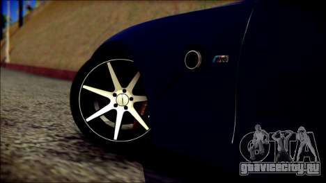 BMW Z4M Coupe 2008 для GTA San Andreas вид сзади слева