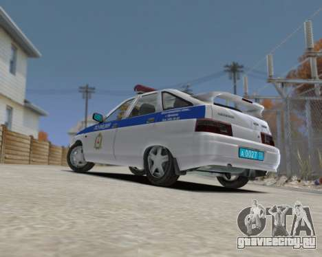 ВАЗ 2112 ДПС для GTA 4 вид слева