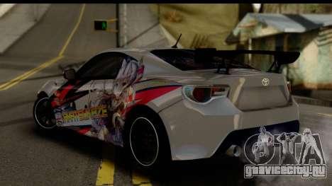 Toyota GT86 Itasha для GTA San Andreas вид слева