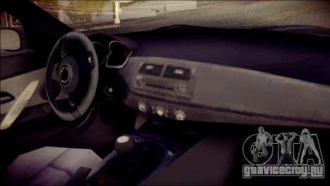 BMW Z4M Coupe 2008 для GTA San Andreas вид справа