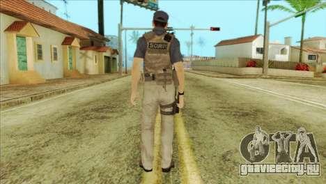COD Advanced Warfare Jon Bernthal Security Guard для GTA San Andreas второй скриншот