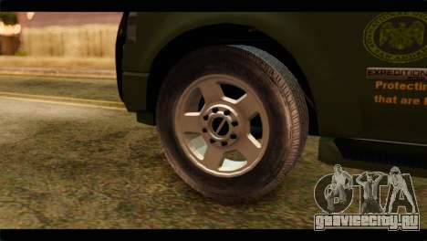Ford Expedition 2009 SANG для GTA San Andreas вид сзади слева