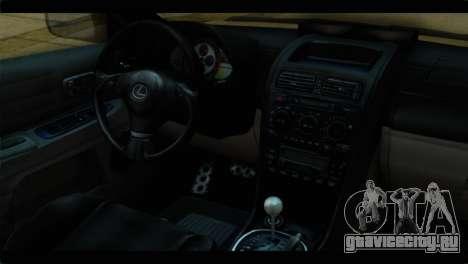 Toyota Altezza Police для GTA San Andreas вид справа