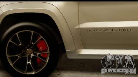 Jeep Grand Cherokee SRT8 2014 для GTA San Andreas вид сзади