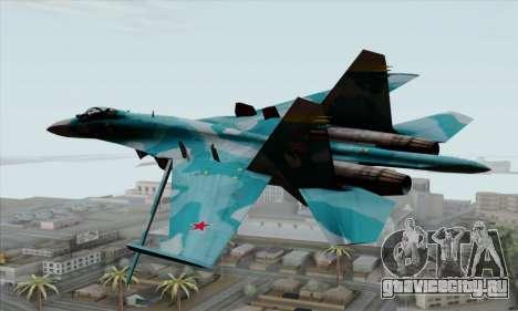 SU-27 Flanker A Warwolf Squadron для GTA San Andreas вид слева